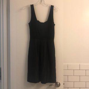 Black sleeveless Theory dress
